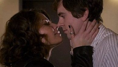 Paige Spara kissing freddie highmore.