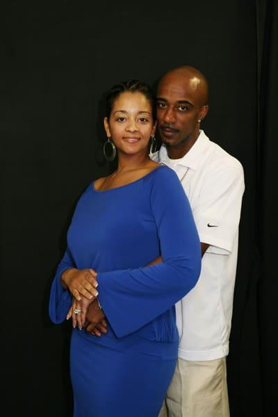 Amber Serrano with her husband Ralph Tresvant