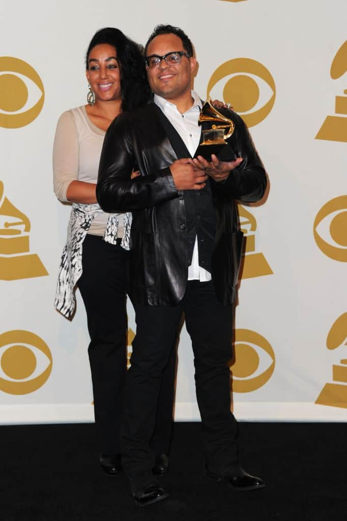 Meleasa Houghton with her ex-husband Israel Houghton