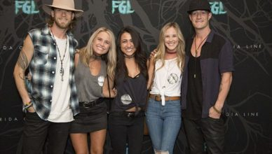 Alyssa Logan with the band Florida Georgia Line