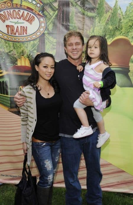 Cathleen with her spouse Kenny Johnson and daughter Angelica