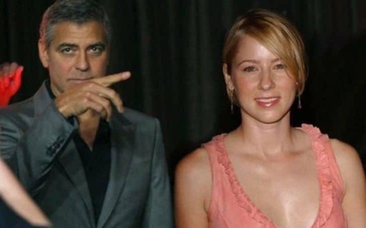 Traylor Howard with her ex-boyfriend George Clooney