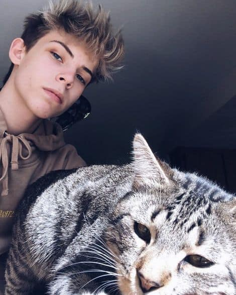 Jason Waud And his cat Theo