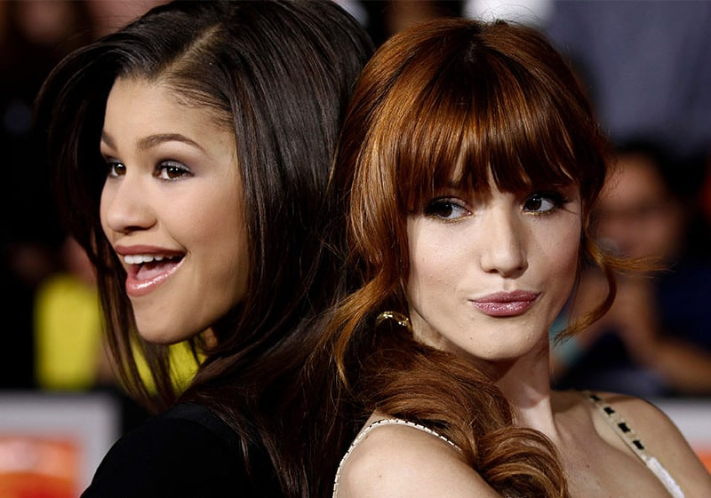 Bella, from Shake it up with her co-star, Zendya.