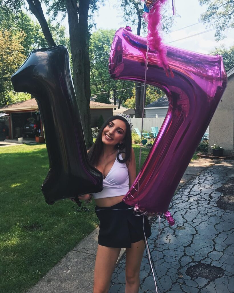 Alexis Simone on her seventeenth birthday.