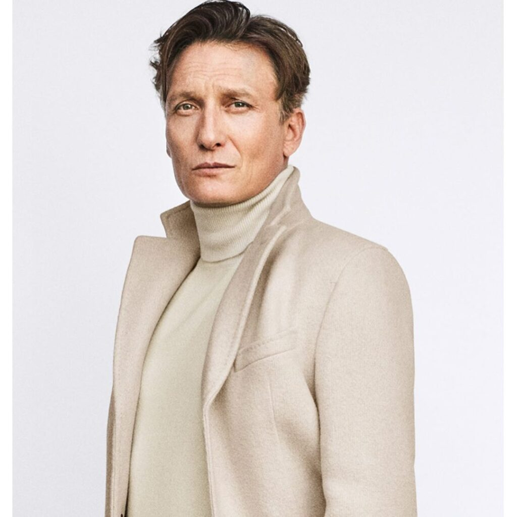 Oliver Masucci during the photoshoot of Fall/Winter campaign.