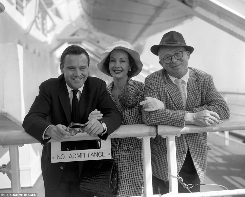 Billy Wilder and his wife, Audrey Young with Jack Lemmon on left.