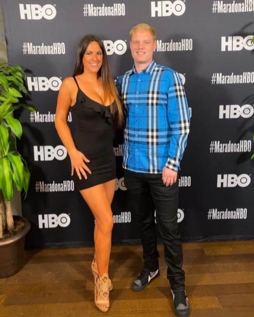 Claudia Romani with her boyfriend Chris.
