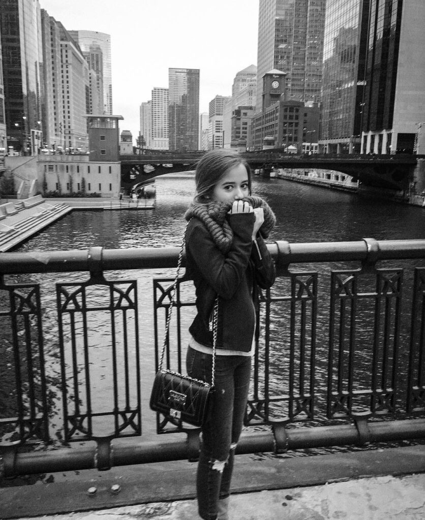Lydia posted her picture on Instagram while she was in Chicago.