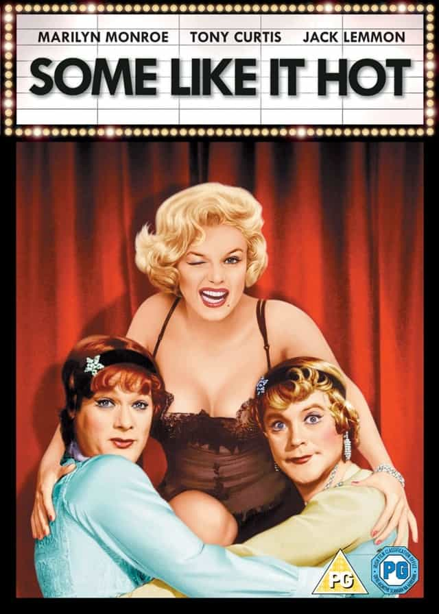 Cover of the movie, Someone Like It Hot, directed by Billy Wilder.